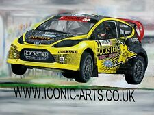 Tanner Foust Ford Fiesta A2 limited edition art print by Howard Mathurine