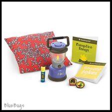 NEW IN BOX American Girl Retired Campfire Accessories Lantern Flashlight Pillow