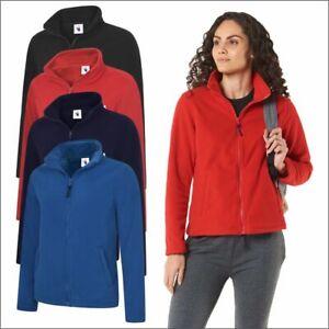 Ladies Classic Full Zip Micro Fleece Jacket Women's Outdoor Casual Winter Jacket