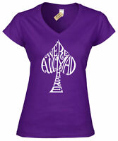 Womens We're all mad here Alice in Wonderlandr ladies V-Neck T Shirt top