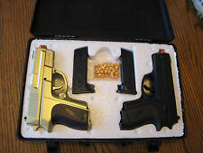 Cool 2 Airsoft Pistol P618, 1 Black & 1 Gold Color Fun to Shoot Each Other