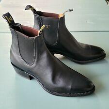NWOB RM Williams Yearling Chelsea Boots AU9.5E US10.5 Narrow Black Calf $500