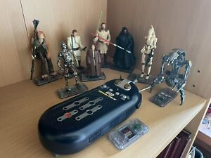 Star Wars Phantom Menace 8 Figure Bundle With Commtech Commtalk Reader