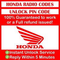 UNLOCK HONDA RADIO STEREO 4 DIGITS CODE