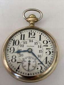 Vintage Antique Waltham G.F. Pocket Watch 21 Jewels 18s