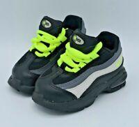 Nike Little Air Max 95 TD Black Volt Size 4C Air Max 905462-022 Toddler NEW