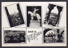 VERONA CITTÀ 178 SALUTI da... VEDUTINE Cartolina FOTOGRAFICA viaggiata 1960