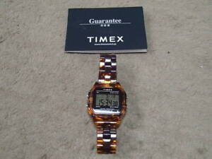 "TIMEX × BEAMS Bespoke Classics Digital ""Tortoise shell"" Square Watch usjpdeitfrc"