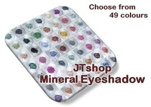 JTshop Superior Mineral Eye Shadow/Liner (0.3g-2g) 49 Colour Choices-All Natural