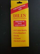 Dills  Cotton Pipe Cleaners Absorbent Regular Tobacco, gun Cleaning 32 Count