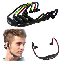 Universal Bluetooth Sports Gym Running Headphones Neckband Earphone Mic Blue