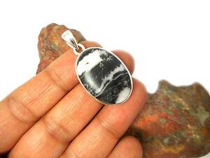 Zebra  JASPER  Sterling Silver  925 Gemstone  PENDANT -  Gift  Boxed