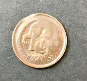 1966 1 Cent Coin Error Clip Variety Australian Decimal Coin Suit slabbing w PCGS
