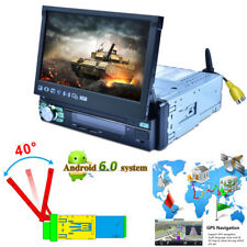 "Auto Folding 7"" 1DIN Android GPS WIFI HD Touch Car Radio Stereo MP5 Player Kit"