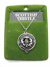 Rose Pewter Clan Crest Pendant By Art Pewter