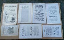 More details for 7 antique theatre handbills flyers ephemera paper programmes adelphi globe etc