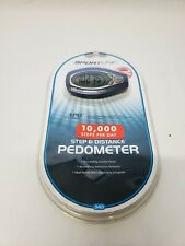 Sportline 340 Step and Distance Pedometer - Fitness Running Hiking Belt Clip APD