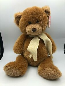 TY Classic 2008 Border Exclusive Chaucer Brown Teddy Bear Plush Soft Stuffed Toy