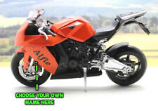 Personalised Name Gift 20cm KTM1190 Motorcycle Motorbike Model Toy Boxed Present