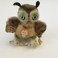"VINTAGE STEIFF GERMANY MINIATURE 4"" MOHAIR ""WITTIE"" OWL, Single Owner Excellent"