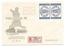 FINLAND FDC Finlandia 56, Registered Envelope Helsinki/Helsingfors 1956
