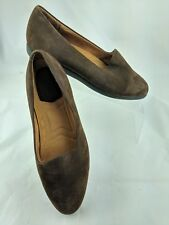 ROCKPORT Womens 7.5W Brown Suede Slip-On Loafer Shoes Wide
