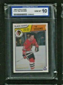 Tim Higgins 1983 O-PEE-CHEE #104 ISA 10 GEM MINT Black Hawks Detroit Red Wings