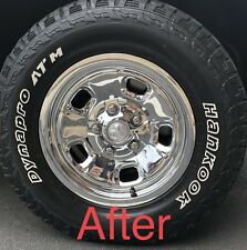 "NEW Dodge RAM 1500 17"" 5-lug 5-hole Steel Wheel Chrome Covers Wheelskins SET"