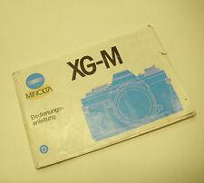 Manuale di istruzioni MINOLTA XG-M