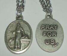 "NEW St Luke Holy Medal on 24"" Steel Chain Patron of Physicians, Writers, Artists"