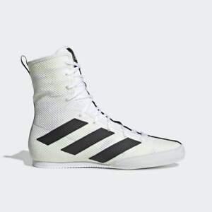 Adidas BOX HOG 3 SHOES White/Black/Yellow F99919 Men's Sz 8 NEW