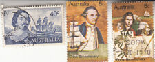 Australia 1966. Abel Tasman 40c. Sc 412 & 1970 Captain Cook 5c. Used