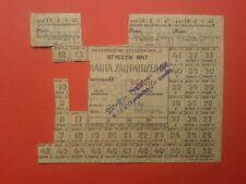 Karta Zaopatrzenia 1947 Purchasing Card