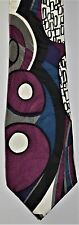 Men's Necktie by Bergamo Loud & Colourful 100% Italian Silk 8 Pictures