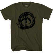 Star Wars Mandalorian Badge Disney+ Adult Tee Graphic T-Shirt for Men Tshirt