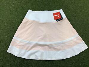Puma Pwrshape Stripe Skirt Cloud Pink White Women's SZ S ( 599631 03 )