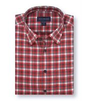 Scott Barber Mens Shirt Red Size Large L Button Down Classic Fit Plaid $80 415
