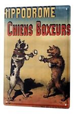 Tin Sign Breed Dog fight