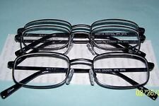 Foster Grant 1 pr Charcoal Gray 1 pr Blk Reading Glasses 2 pair package +2.50 46