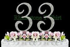 Large Rhinestone NUMBER (33) Cake Topper 33th Birthday Wedding Party Anniversary