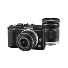 Near Mint! Olympus E-PL2 12.3MP with 14-42mm + 40-150mm Black - 1 year warranty