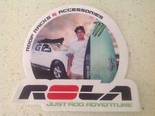 4x4 Rola Racks Sticker Post 4wd Ford Toyota Mazda Caravan Mick Fanning