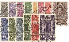 Austria 1910 michel nº 161-174 80. cumpleaños emperador Franz Joseph con sello