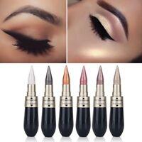Eye maquillage eyeliner fard à paupières stylo 2en1 crayon métallique cosmétique