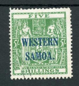 Western Samoa 1935-42 Postal Fiscal 5s Wiggins Teape SG194a FU cat £225