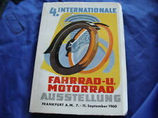 MANUALE 4°FIERA INTERNAZIONALE MOTO E CICLI FRANCOFORTE 1960 VESPA LAMBRETTA BMW