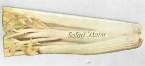 Rare Inaug June 1915 Northern Pacific Railway Salad Menu Service Die Cut Celery