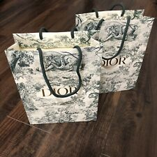 2 DIOR Toile Special Edition holiday Shopping Paper Gift Bags 10x8x3 Inches