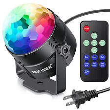 Neewer Mini LED Stage Light Sound Activated Party Light with Remote Control