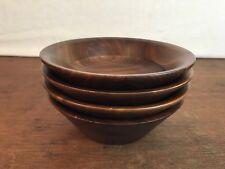 Vintage Wooden Bowls Mid Century Set of (4) HD1
